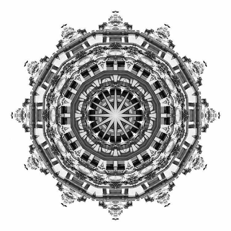 kaleidoscope clock building