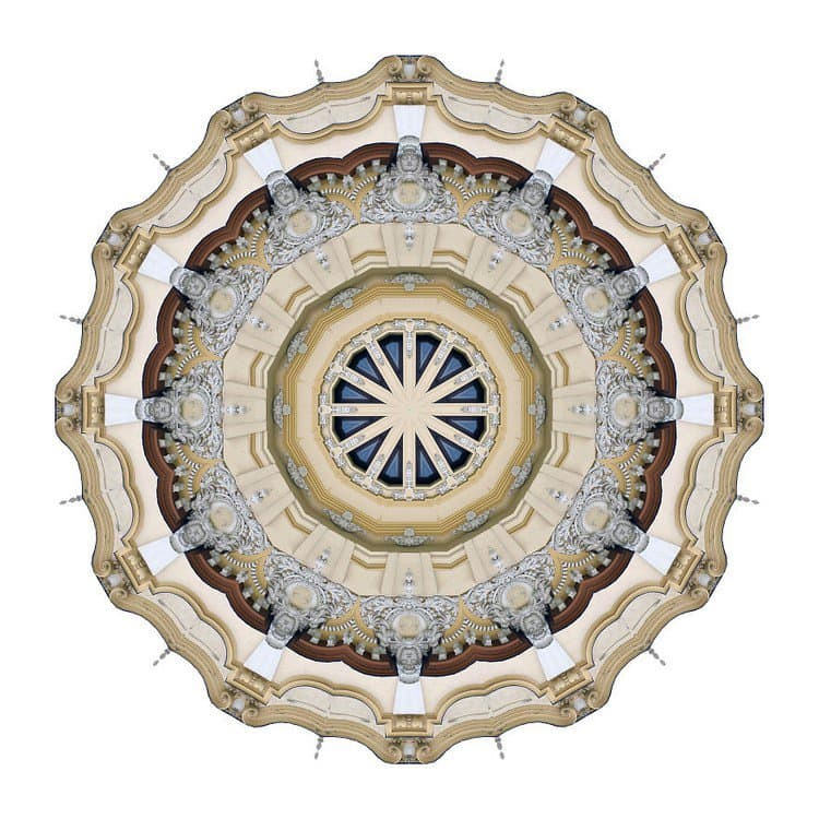 kaleidoscope face building