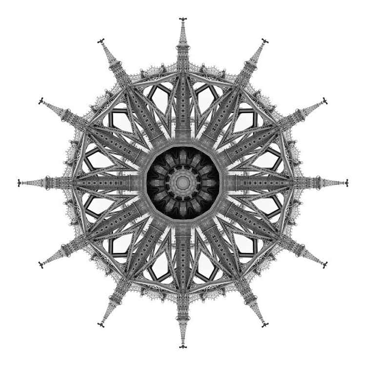 kaleidoscope grey building