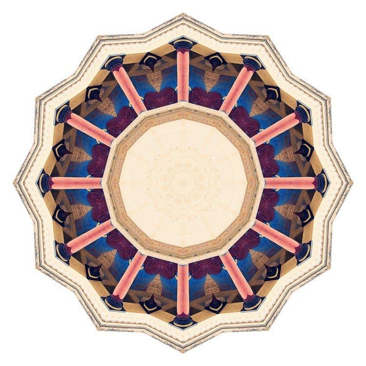 kaleidoscope pillar building