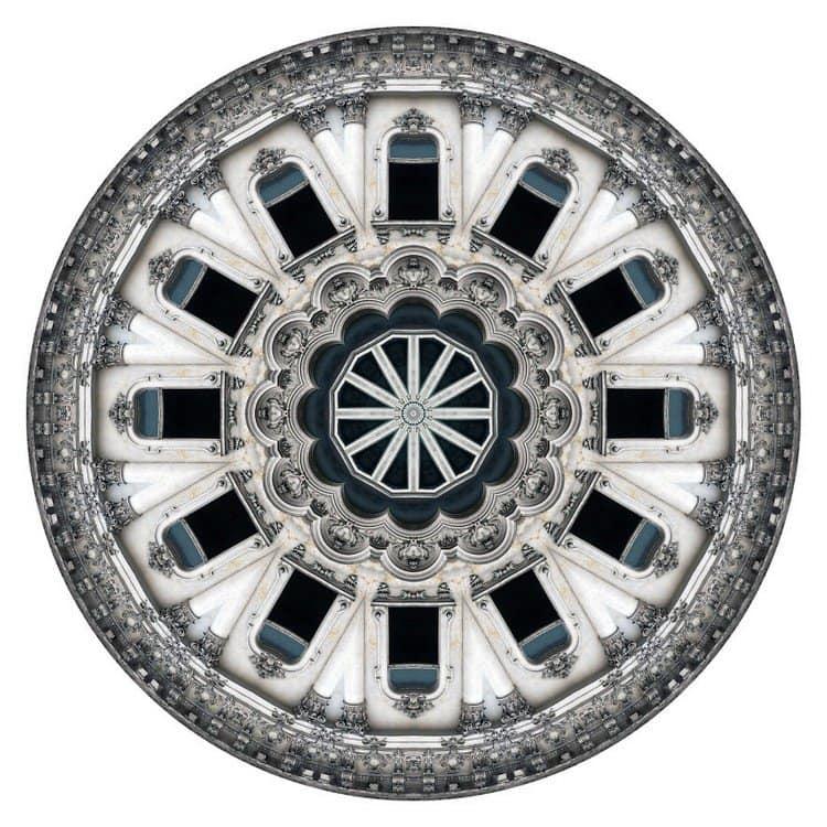 kaleidoscope white building