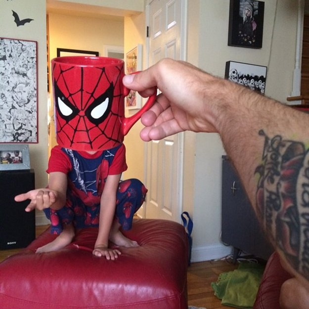 kids-superheroes-breakfast-mugshot-lance-curran-spiderman