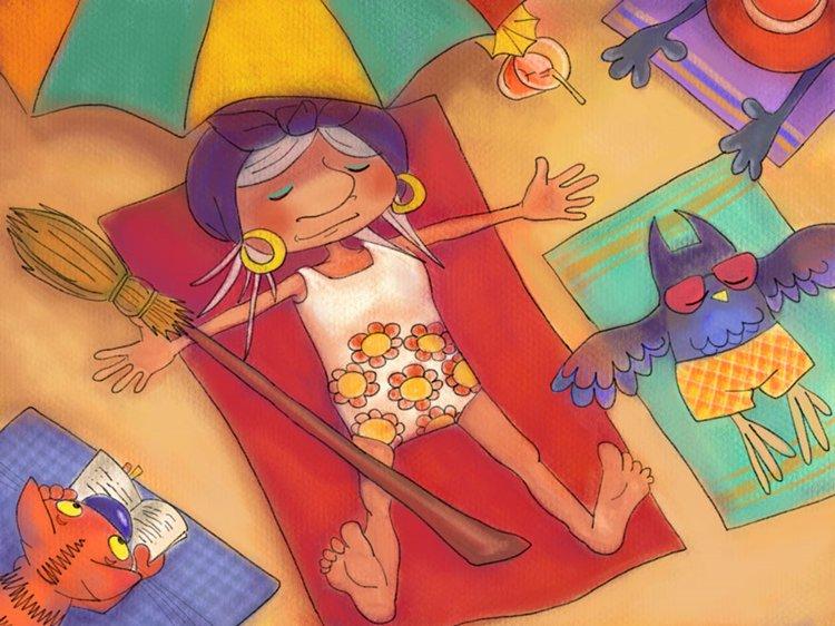 linda-the-witch-sunbathing