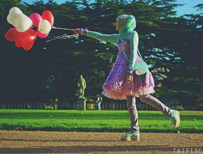 lolita girl balloons