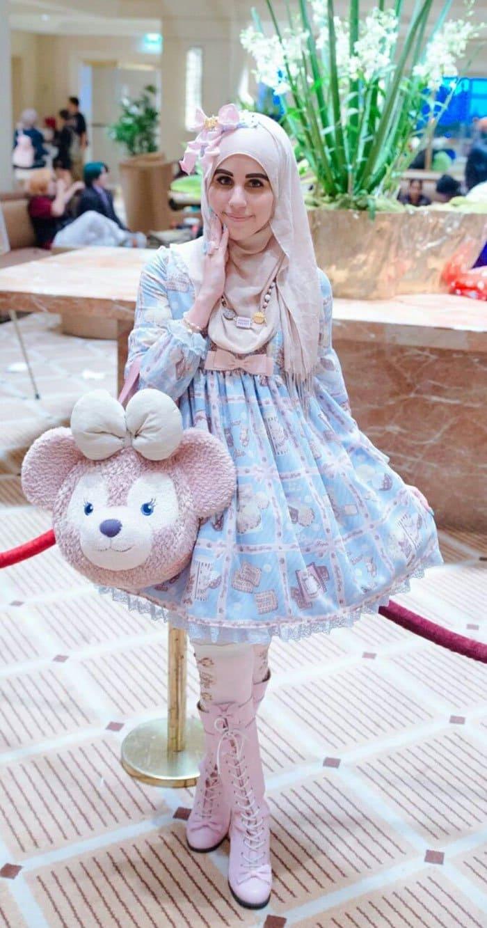 lolita girl bear bag