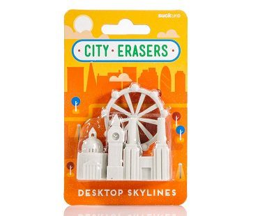london landmarks erasers pack