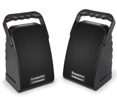 long range wireless speakers black