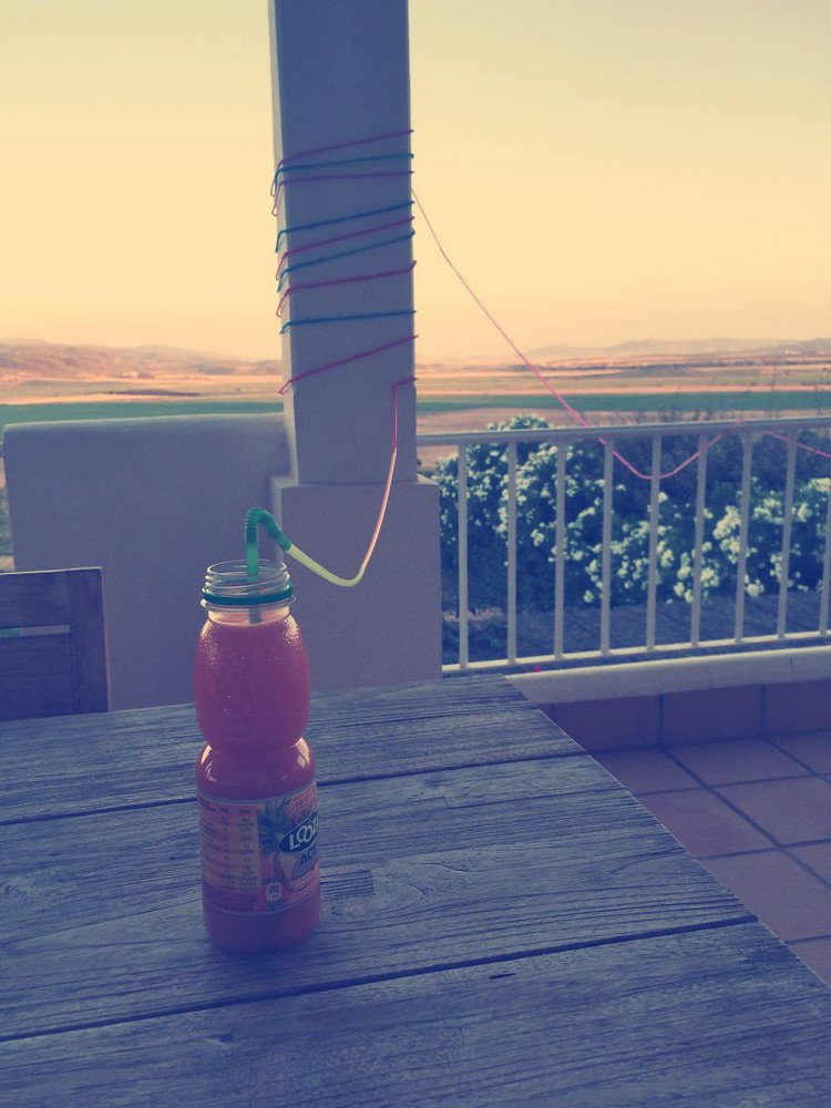 long straw drink