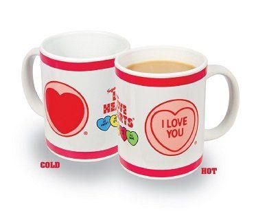 love hearts heat changing mug