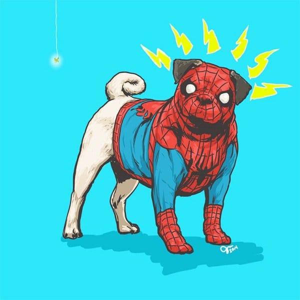 marvel-dogs-pug-spiderman