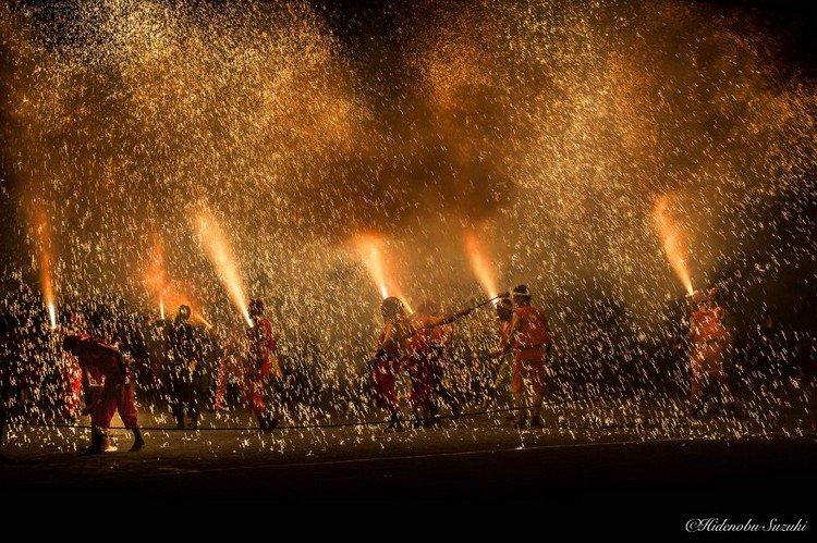 men fireworks festival