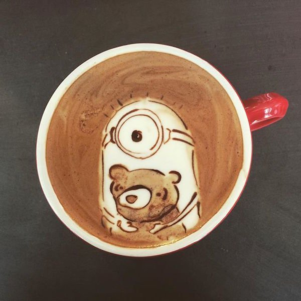 This Adorable Minion Latte Art Looks Too Good To Drink