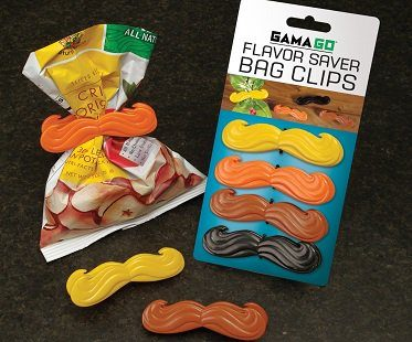 mustache chip bag clips
