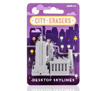 new york landmark erasers pack