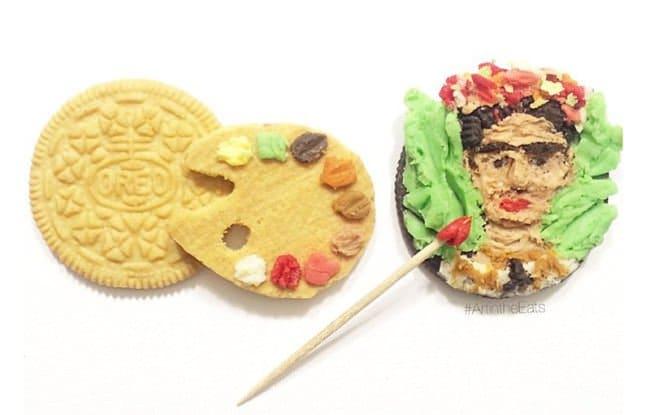 oreo-art-Frida-Kahlo