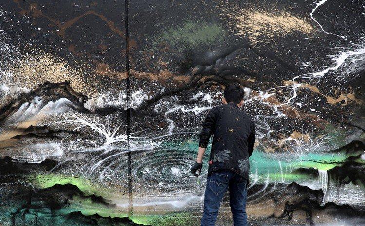 panda splatter artist