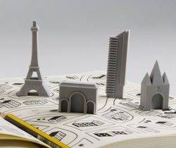 paris landmark erasers