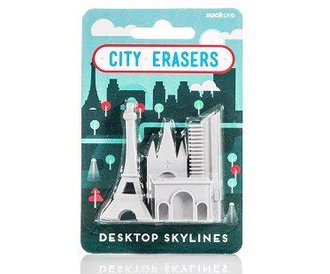 paris landmark erasers pack