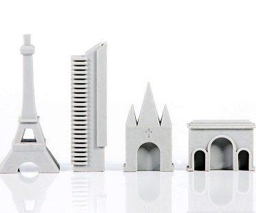 paris landmark erasers rubber