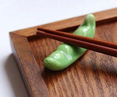 pea pods chopstick rests green