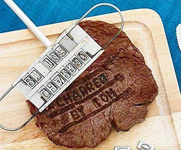 personalized bbq branding iron steak