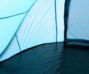 pop-up tent blue inside