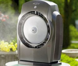 portable misting fan grey