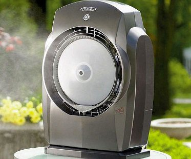portable misting fan grey