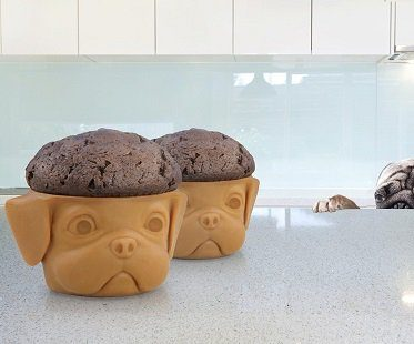 puppy-shaped cupcake molds