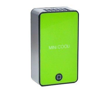 rechargeable mini fan green