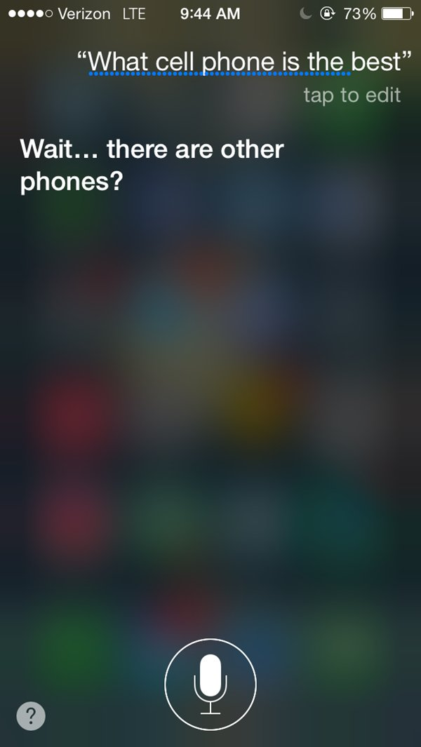 siri snarky answers phone