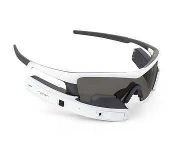 smart eyewear for sports white