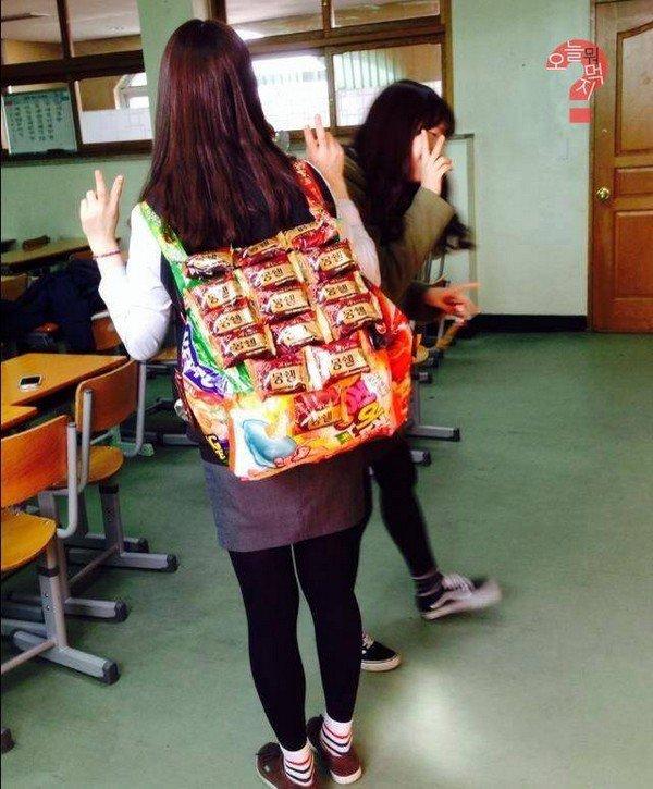snackpack back girl