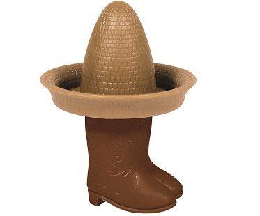 sombrero and boots corn skewers cob