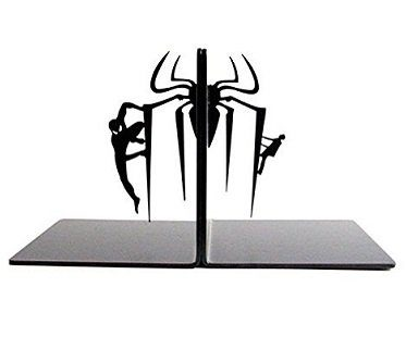spider man bookends metal