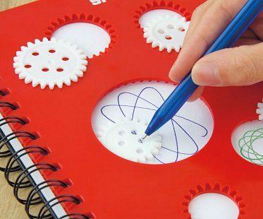 spirograph notebook pad