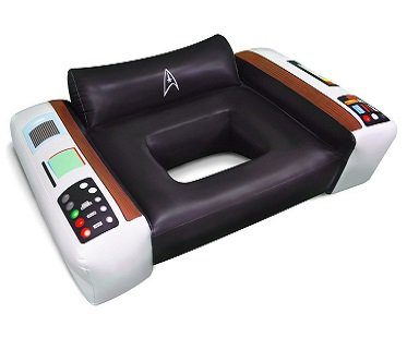 star trek captain's chair pool float outdoors