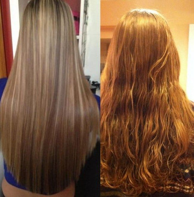 straight wavy hair