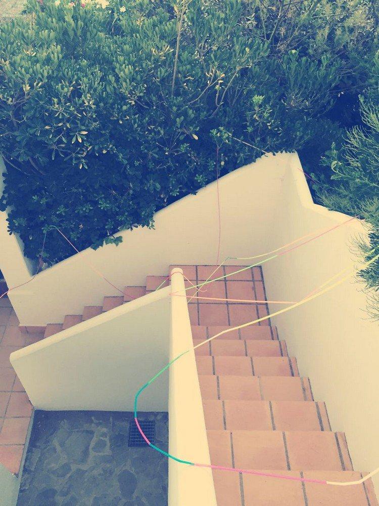 straw stairs