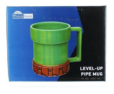 super mario pipe mug level up