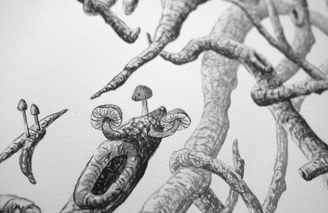 surreal-stick-men-mushrooms