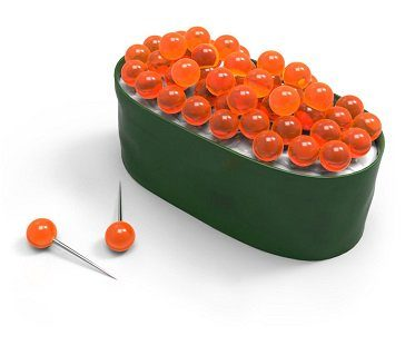 sushi push pins orange
