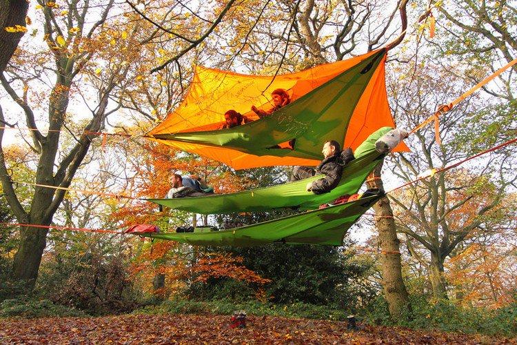 suspended tents hammocks