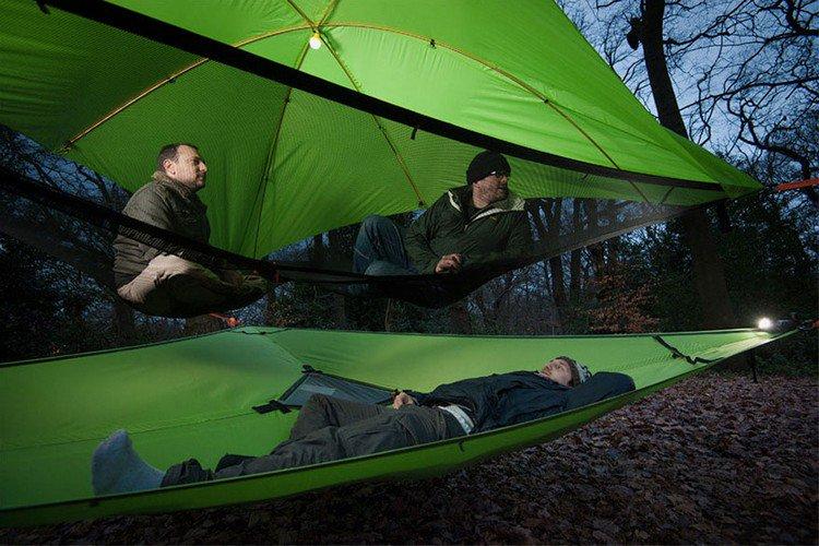 suspended tents men