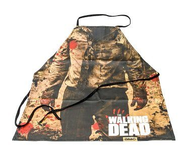 the walking dead zombie apron flat
