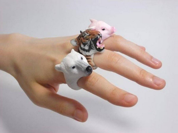 trio animal rings