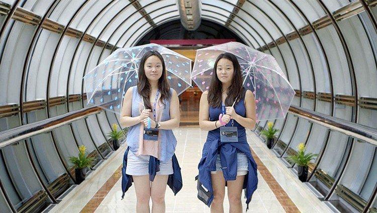 twins umbrellas