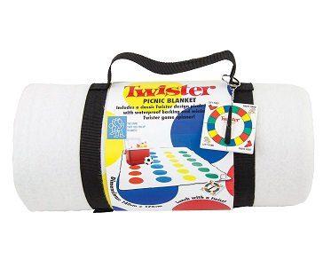 twister picnic blanket fleece rolled