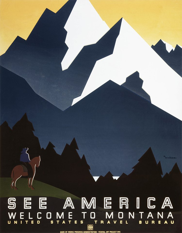 vintage travel posters montana