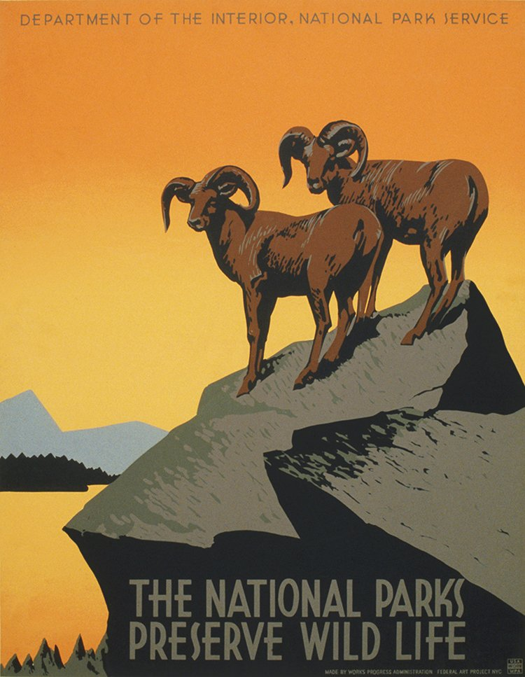 vintage travel posters national parks
